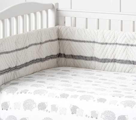 Organic Sleepy Sheep Nursery Bedding - Crib Fitted Sheet - Pottery Barn Kids