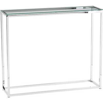 smart glass top console table - CB2