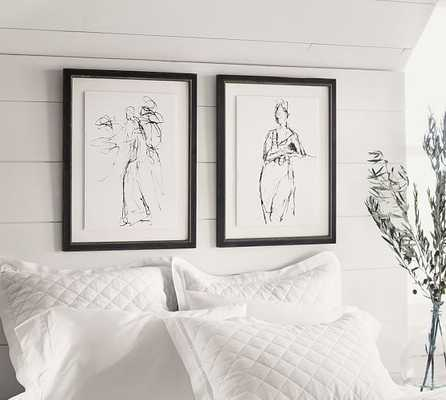 Gestural Figural Sketches Wall Art - SET OF 2 (ONE OF EACH STYLE) - Pottery Barn