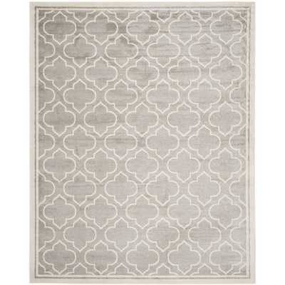 Safavieh Indoor/ Outdoor Amherst Light Grey/ Ivory Rug (10' x 14') - Overstock