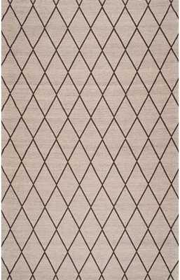 "Saratoga Wool Diamond Trellis Rug - Tan, 7'6"" X 9'6"" - Rugs USA"