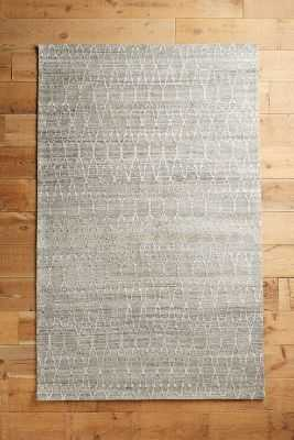 Stitched Pyramid Rug - Grey - 5' x 8' - Anthropologie