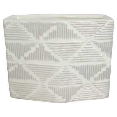 "Nate Berkusâ""¢ Small White Textured Ceramic Vase - Target"