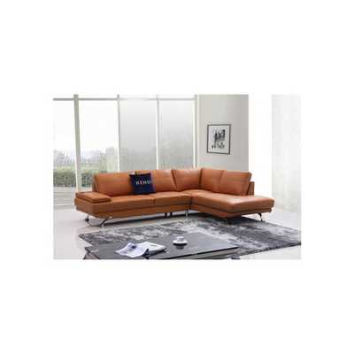 Divani Casa Knight Modern Leather Right Sectional - AllModern