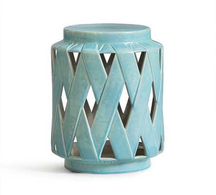 Lattice Ceramic Accent Table - Pottery Barn
