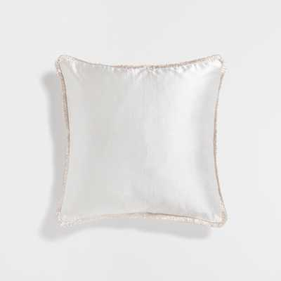 """SILK PILLOW COVER WITH FRINGE - 15,5 x 15,5 """" - no insert - Zara Home"""