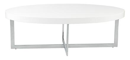 San Dimas Coffee Table WHITE/CHROME - Apt2B