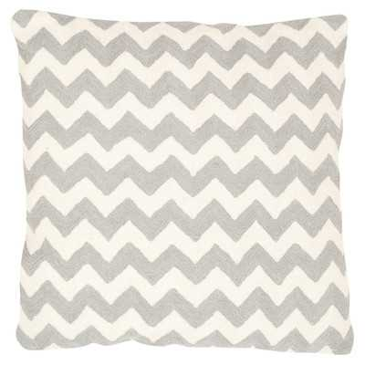 Jerimiah Decorative Cotton Throw Cushion, Light gray, no insert - Wayfair