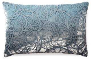 Motif 12x18 Velvet Pillow, Dusk-Insert - One Kings Lane
