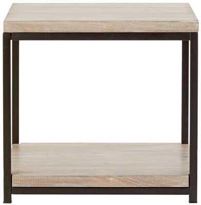 ANJOU END TABLE - White Wash - Home Decorators