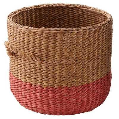 Half tone floor Basket (Red) - Land of Nod