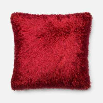 """Throw Pillow, Red - 22"""" Sq. - Insert Included - AllModern"""