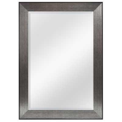 Pewter Beveled Wall Mirror - AllModern