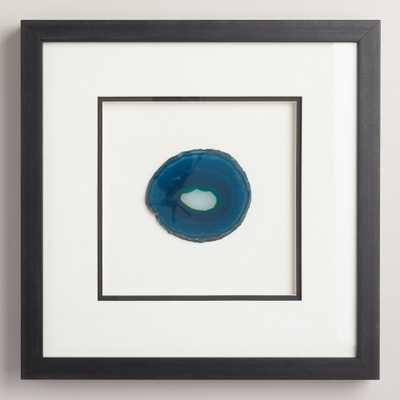 Blue Agate Shadowbox Wall Decor - 16.5x16.5 - Framed - World Market/Cost Plus