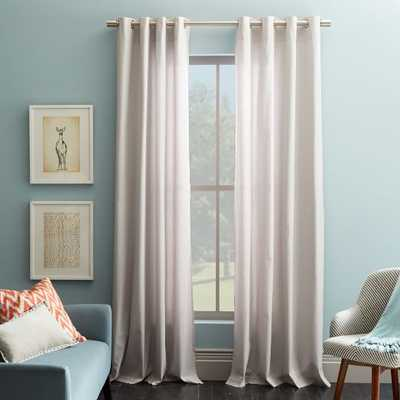 Cotton Canvas Grommet Curtain - Frost Gray - West Elm