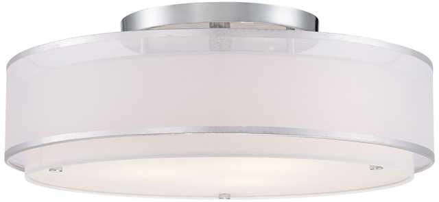 "Possini Euro Design Double Organza 20"" Wide Ceiling Light - Lamps Plus"
