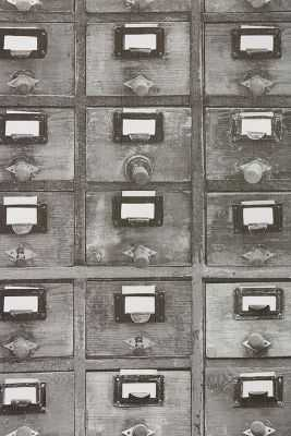 Card Catalog Wallpaper - Anthropologie