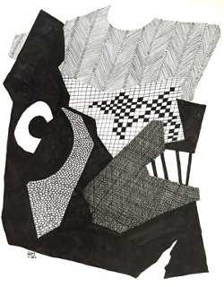 Pen & Ink Abstract by R Stokes - One Kings Lane