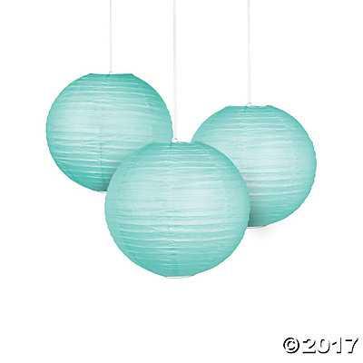 Mint Green Paper Lanterns - Mint - Oriental Trading