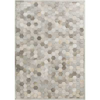 Hand-Crafted Cesar Geometric Hair On Hide Rug - Overstock