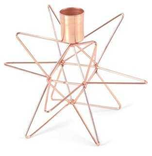 Star Candleholder, Copper - One Kings Lane