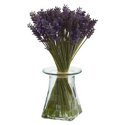 Nearly Natural Lavender Bundle w/Vase - Target