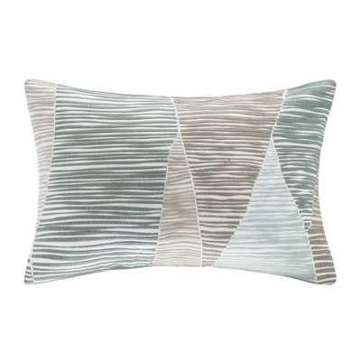 Bengal Embroidered Cotton Lumbar Pillow - Wayfair