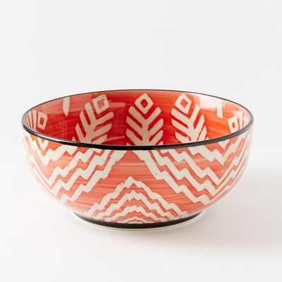 Folk Printed Serving Bowls - Large - West Elm