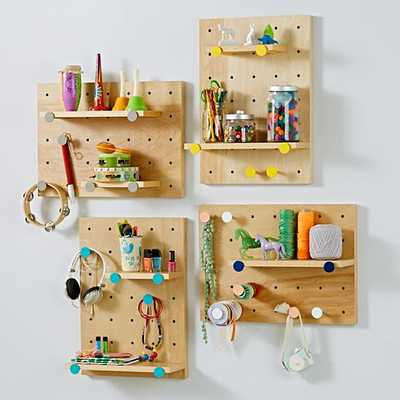 On the Pegboard Shelving System - Land of Nod
