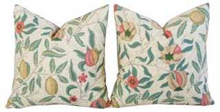 William Morris & Co Fruit Pillows, Pair - One Kings Lane