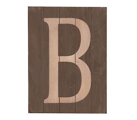"""Wood Planked Letters - """"B"""" - Pottery Barn Kids"""