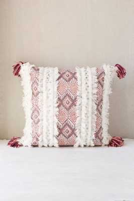 "Magical Thinking Morocco Pillow - Pink - 18""L x 18""W - Insert sold separately - Urban Outfitters"