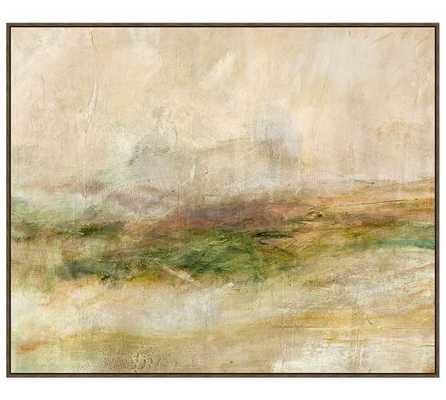 "Beneath the Horizon Print - 35.25"" x 30.25"" - Tan Frame - Pottery Barn"