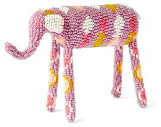 "9"" Hand-Beaded Elephant - One Kings Lane"
