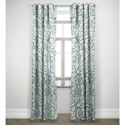 "Harlequin Flower Design Grey Double Panel Curtain Pair - 95""L - Overstock"