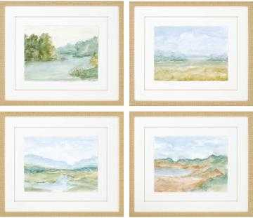 "WATERCOLOR LANDSCAPES FRAMED WALL ART - SET OF 4-23""x27"" - Home Decorators"