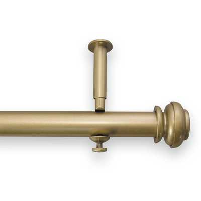 "Icon Adjustable Single Curtain Rod and Hardware Set, Gold, 90""-144"" - Wayfair"
