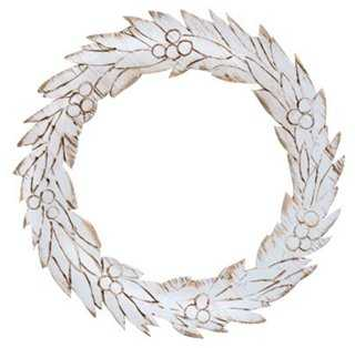 Winter Wreath, Whitewashed - One Kings Lane
