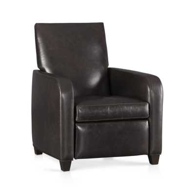 Royce Leather Recliner - Smoke - Crate and Barrel