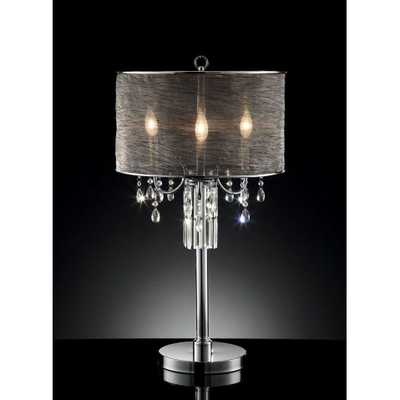 """32"""" H Table Lamp with Drum Shade - Wayfair"""