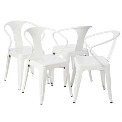 White Tabouret Stacking Chairs (Set of 4) - Overstock