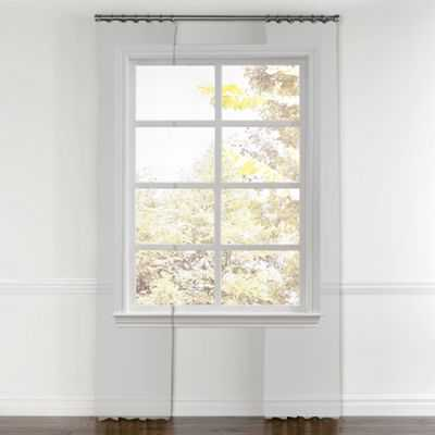 "White cotton twill curtain, ring top - 50""W x 84""L - Loom Decor"