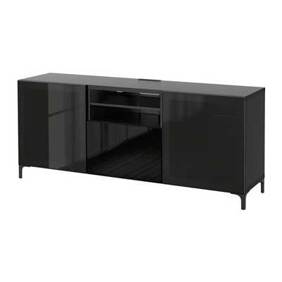 BESTÃ… TV unit with push open drawers - Ikea