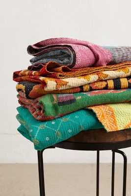 Hand-Stitched Kantha Throw - Anthropologie