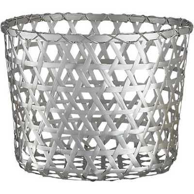 copper baskets - silver - CB2
