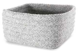 Wool Blend Square Storage Basket, Gray - One Kings Lane