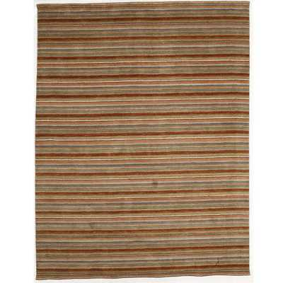 Indo Hand-tufted Wool Striped Rug (8' x 10') - Overstock
