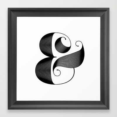 """Ampersand- 12"""" X 12""""- Framed - Society6"""