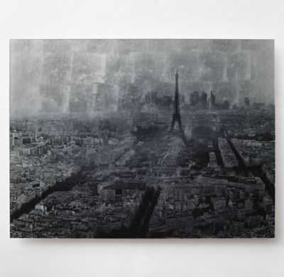 SILVER SKYLINE PHOTOGRAPHY - PARIS (LARGE) -UNFRAMED - RH Teen