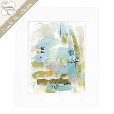 """Suzanne Kasler Reflecting Abstract Framed Art - Print 1 - 22"""" X 26"""" - Ballard Designs"""